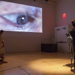 """Hear, Here,"" experimental opera at the New Museum on June 1, 2014, Writer/Director: Jeanine Oleson. Photo credit: Marina Ancona."