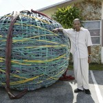 The world's largest rubber band ball. Photo courtesy Ripley's