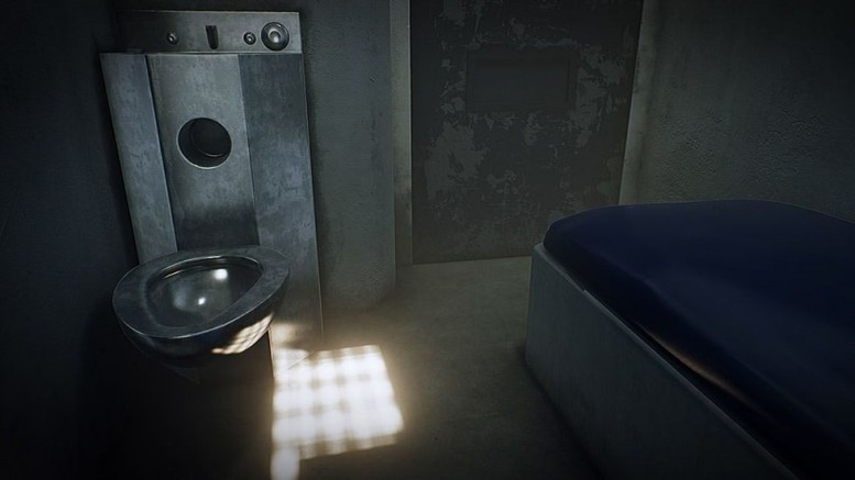"An image from ""6X9: AN IMMERSIVE EXPERIENCE OF SOLITARY CONFINEMENT,"" created by Francesca Panetta and Lindsay Poulton"