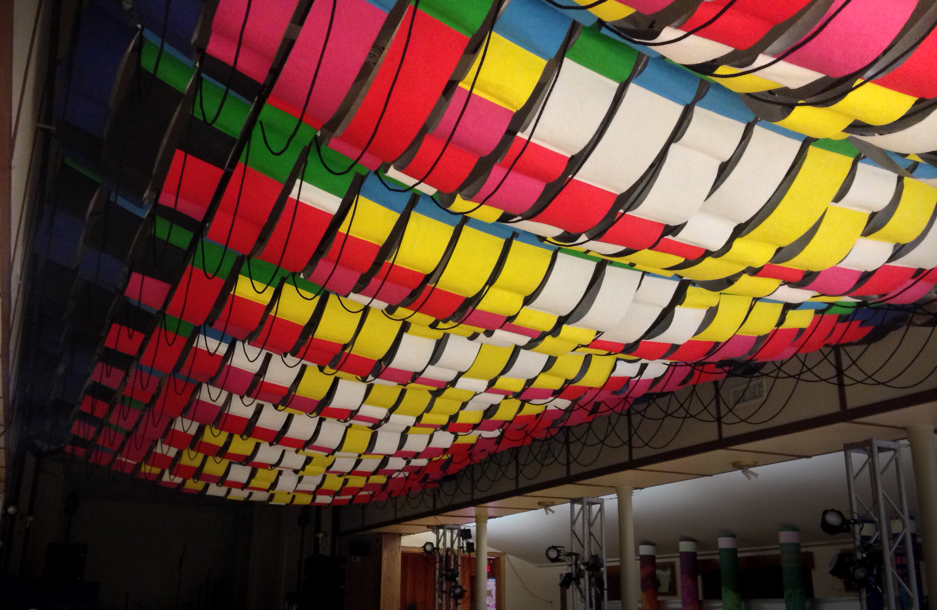 RGB Hub ceiling for Fusebox Festival 2016.