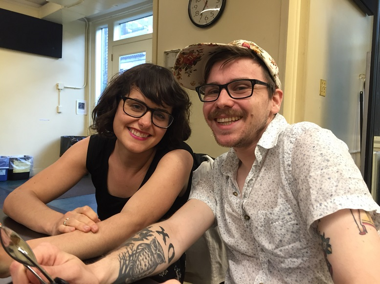 Claire Kiechel and Dominic Finocchiaro at an R&D meeting. Photo Credit: Meghan McClain.