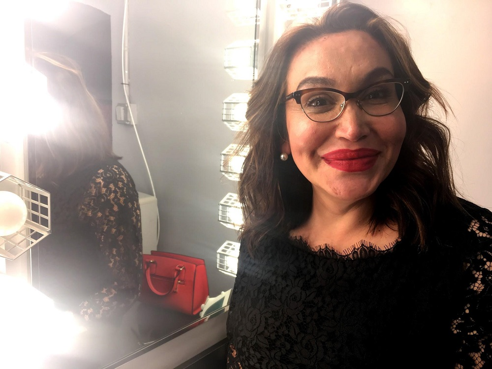 Cecilia Gentili smiling before going on stage at Let Me Ascertain You: Hormones. Photo Credit: Jasmyn Crawford.